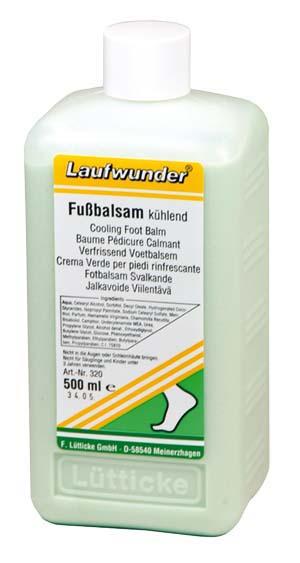 Laufwunder Fußbalsam kühlend - Praxisflasche - 500 ml
