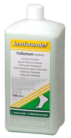 Laufwunder Fußbalsam kühlend - Praxisflasche - 1000 ml