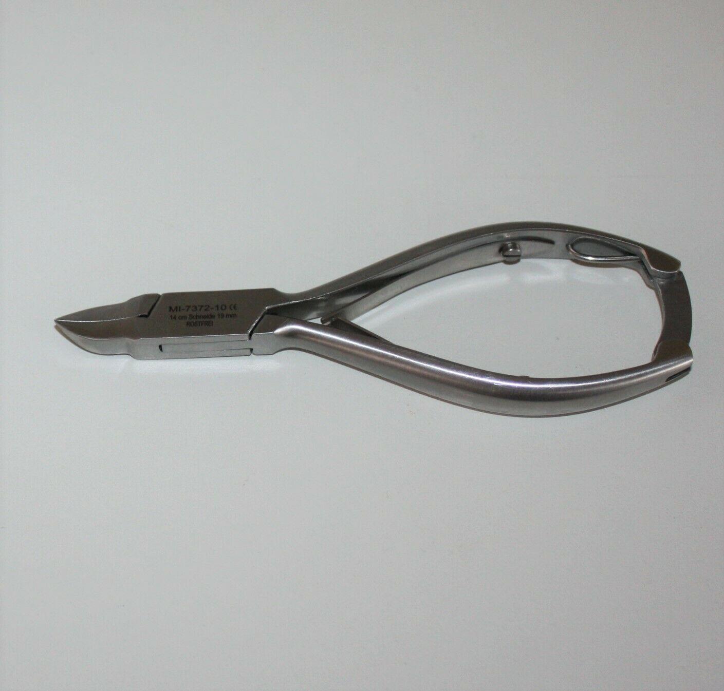 Nagelzange - gebogene, schlanke Schneide - slim - 14 cm / 20 mm