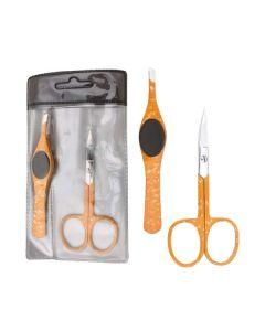 2-teiliges Set mit Nagelschere und Pinzette (orange)