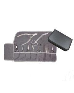 Baumwolleinlage für Instrumenten Etui (grau)