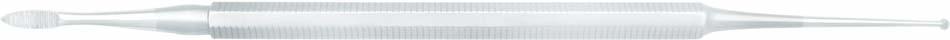 Eckenfeile mit flachem Löffel - 14,5 cm