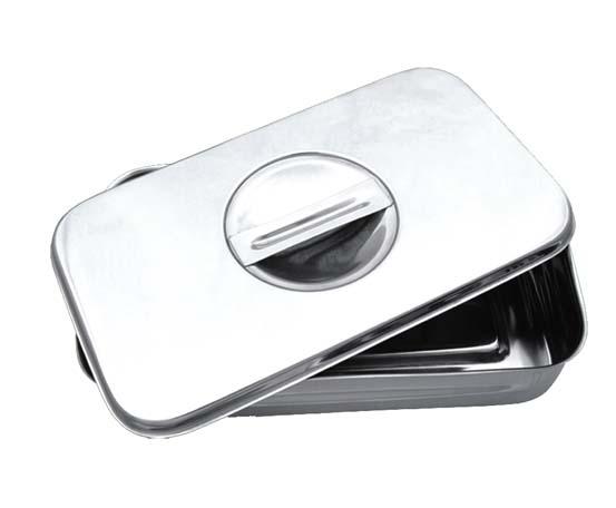 Edelstahl Instrumenten Behälter Box mit Deckel und Griff